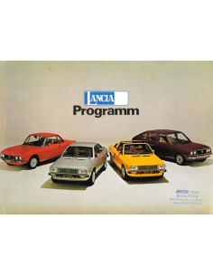 1975 LANCIA RANGE BROCHURE GERMAN