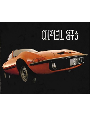 1971 OPEL GT / GT/J 1900 PROSPEKT NIEDERLÄNDISCH