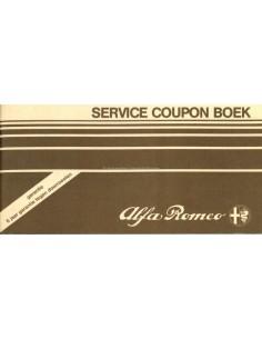 1983 ALFA ROMEO SERVICE COUPON BUCH NIEDERLÄNDISCH
