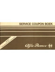 1983 ALFA ROMEO SERVICE COUPON BOOK DUTCH