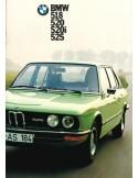 1973 BMW 5ER PROSPEKT NIEDERLÄNDISCH