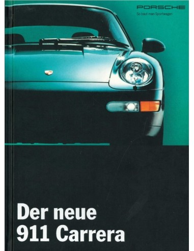 1994 PORSCHE 911 CARRERA HARDBACK BROCHURE GERMAN