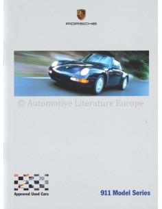 2000 PORSCHE 911 MODEL SERIES PROSPEKT ENGLISCH