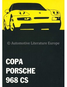 1993 PORSCHE 968 CS COPA PRESSEMAPPE SPANISCH