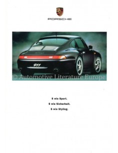 2002 PORSCHE 911 CARRERA S PROSPEKT DEUTSCH