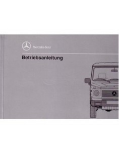 1992 MERCEDES BENZ G 500 CLASS OWNERS MANUAL HANDBOOK GERMAN