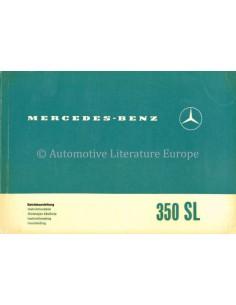 1971 MERCEDES BENZ 350 SL OWNERS MANUAL