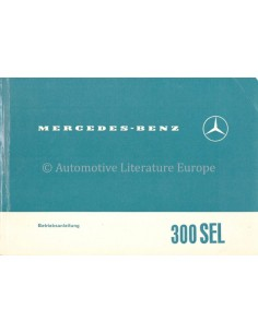 1966 MERCEDES BENZ 300 SEL OWNER'S MANUAL GERMAN