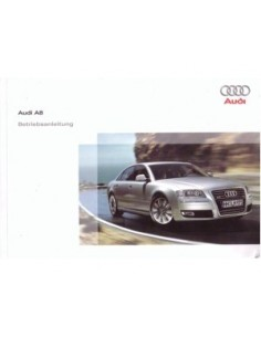 2008 AUDI A8 INSTRUCTIEBOEKJE DUITS