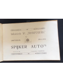 1911 SPYKER 16 - 18 - 25HP CHASSIS BROCHURE DUTCH