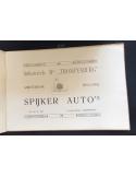 1911 SPYKER 16 - 18 - 25PS FAHRGESTELL PROSPEKT NIEDERLÄNDISCH