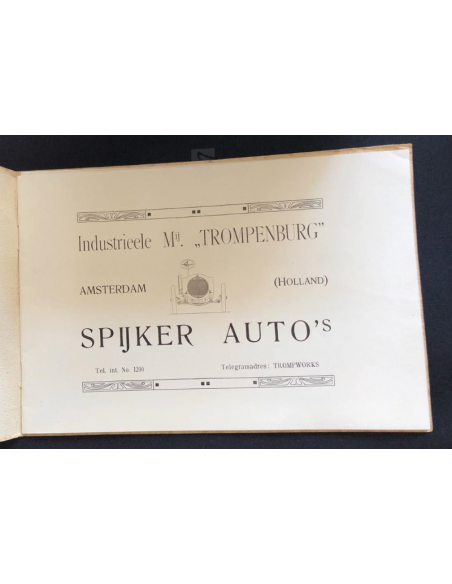1911 SPYKER 16 - 18 - 25HP CHASSIS BROCHURE DUTCH