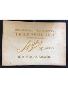 1911 SPYKER 16 - 18 - 25PK CHASSIS BROCHURE NEDERLANDS