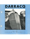 1939 DARRACQ BROCHURE ENGLISH