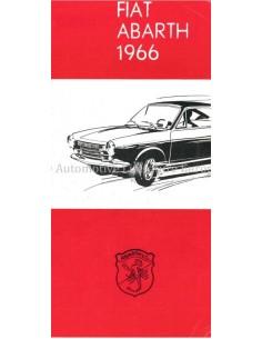 1966 ABARTH PROGRAMMA BROCHURE NEDERLANDS