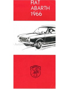 1966 ABARTH RANGE BROCHURE DUTCH