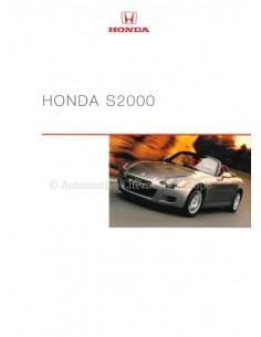2000 HONDA S2000 BROCHURE DUITS