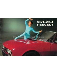 1971 PEUGEOT 504 COUPE / CABRIOLET PROSPEKT DEUTSCH
