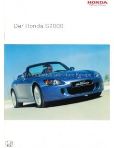 2004 HONDA S2000 BROCHURE GERMAN