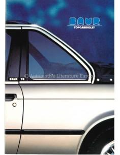 1983 BMW 3 SERIES BAUR TOPCABRIOLET PROSPEKT ENGLISCH