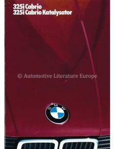 1986 BMW 3 SERIES CABRIO / KATALYSATOR PROSPEKT DEUTSCH