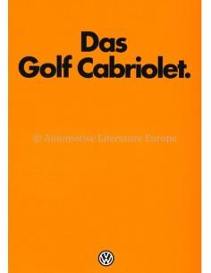 1979 VOLKSWAGEN GOLF CONVERTIBLE BROCHURE GERMAN