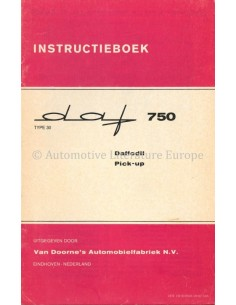 1961 DAF 750 OWNERS MANUAL DUTCH