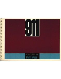 1968 PORSCHE 911 OWNERS MANUAL ENGLISH