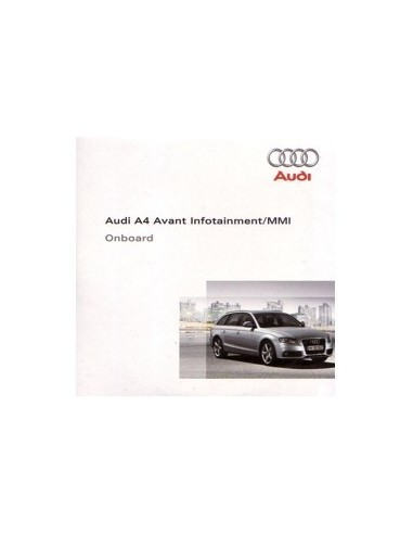 2008 AUDI A4 AVANT CD INFOTAINMENT MMI