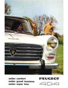 1967 PEUGEOT 404 BROCHURE DUTCH