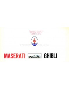 1970 MASERATI GHIBLI PROSPEKT