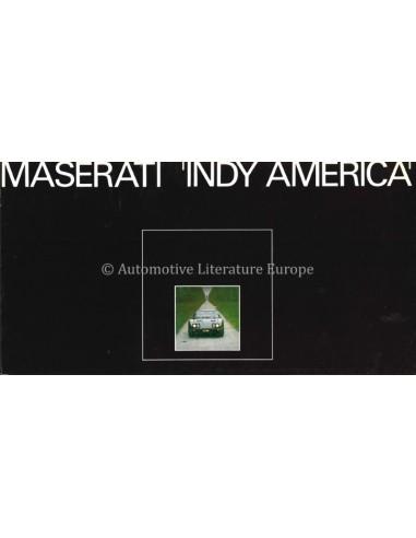 1973 MASERATI INDY AMERICA BROCHURE