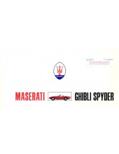 1969 MASERATI GHIBLI SPYDER PROSPEKT