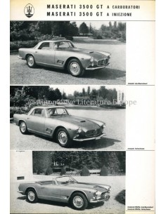 1962 MASERATI 3500 GT 2+2 COUPE CABRIOLET LEAFLET