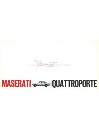1968 MASERATI QUATTROPORTE I BROCHURE