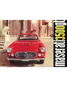 1959 MASERATI 3500 GT 2+2 TOURING BROCHURE