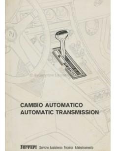 1978 FERRARI AUTOMATIC TRANSMISSION REPAIR MANUAL 157/78