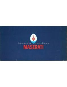 1974 MASERATI PROGRAM PROSPEKT
