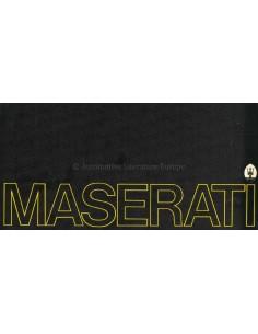 1973 MASERATI PROGRAMM PROSPEKT