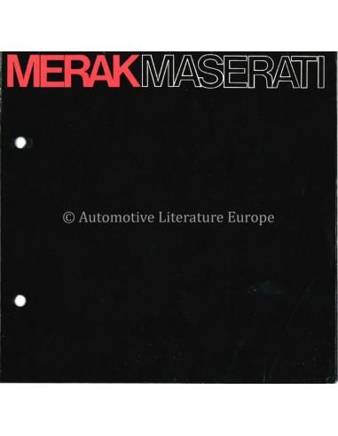 1972 MASERATI MERAK BROCHURE FRANS