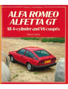 1985 ALFA ROMEO ALFETTA GT ALL 4-CYLINDER AND V6 COUPES BOOK ENGLISH