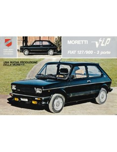 1980 MORETTI 127 VIP 3 PORTE LEAFLET ITALIAN