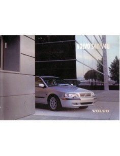 2002 VOLVO S40/V40 OWNERS MANUAL HANDBOOK ENGLISH