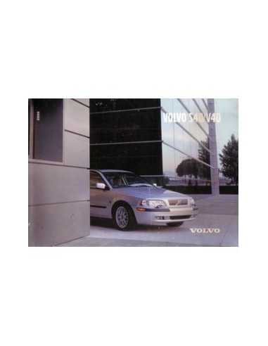 2002 VOLVO S40/V40 INSTRUCTIEBOEKJE ENGELS