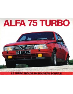 1986 ALFA ROMEO 75 TURBO PRESSE PROSPEKT FRANZÖSISCH