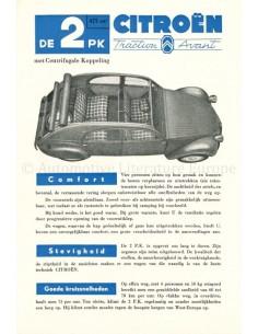 1954 CITROEN 2CV DATENBLATT  NIEDERLÄNDISCH