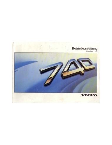 1988 VOLVO 740 INSTRUCTIEBOEKJE DUITS