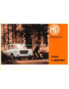 1968 MG 1300 MK II BROCHURE NEDERLANDS
