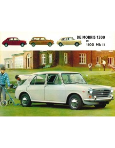 1967 MORRIS 1300 / 1100 MK II BROCHURE NEDERLANDS