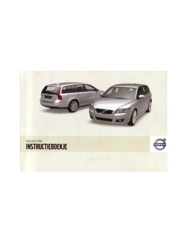 2009 VOLVO V50 INSTRUCTIEBOEKJE NEDERLANDS